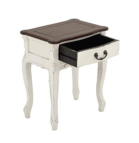 """Deco 79 37742 Wood Side Table, 19"""" x 24"""""""