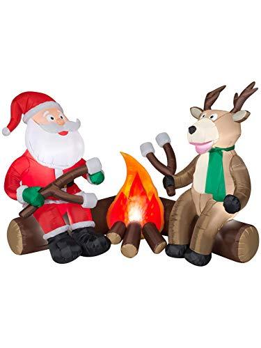Airblown Inflatables Santa Camping Scene - Gemmy 6' Airblown Santa