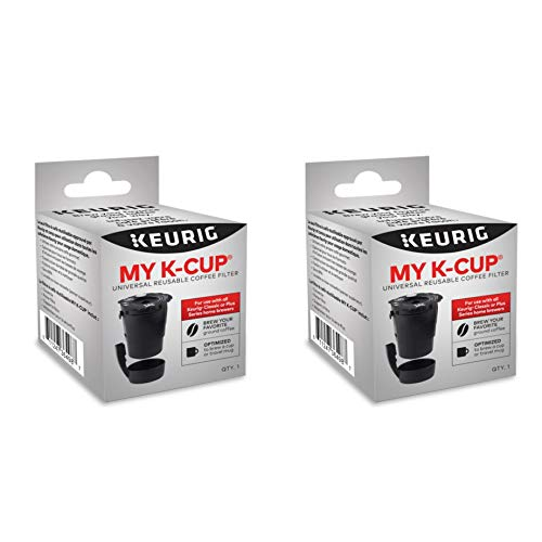 (Keurig My K-Cup Universal Reusable Ground Coffee Filter, Pack of 2, Compatible with All Keurig K-Cup Pod Coffee Makers (2.0 and 1.0))