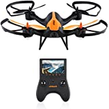 Virhuck T905F 5.8G FPV Drone with 720P HD Built-in Camera, Quadcopter 6-Axis Gyro with Altitude Hold, 3D Flips, Compatible with FPV Goggles(Dont Fly in Windy Day), Orange+Black