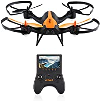 Virhuck T905F 5.8G FPV Drone with 720P HD Built-in Camera, Quadcopter 6-Axis Gyro with Altitude Hold, 3D Flips, Compatible with FPV Goggles, Orange+Black