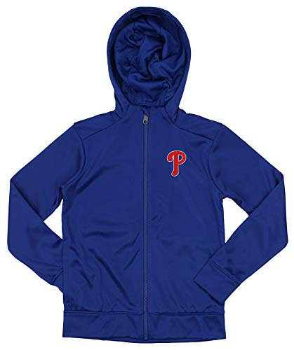 Outerstuff MLB Phillies Boys 8-20 Performance Full Zip Hoody 20-XL