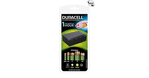 Amazon.com: Duracell 3 Hour Multi Cef22 Cargador para AA AAA ...