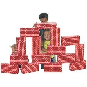 Smart Monkey ImagiBricks Set of 36 Red Giant Image Briks (Jumbo Cardboard Building Blocks)