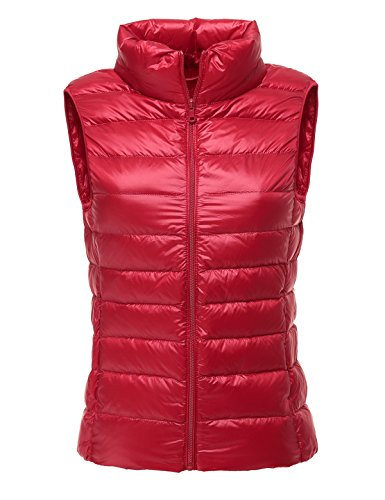 CHERRY CHICK Women's Ultralight Packable Shiny Down Nylon Vest X-Large Red for $<!--$28.99-->