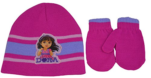 Dora The Explorer Gloves (Dora The Explorer Awsome Winter Hat And Gloves Set Toddler One Size Fits All Fuschia)