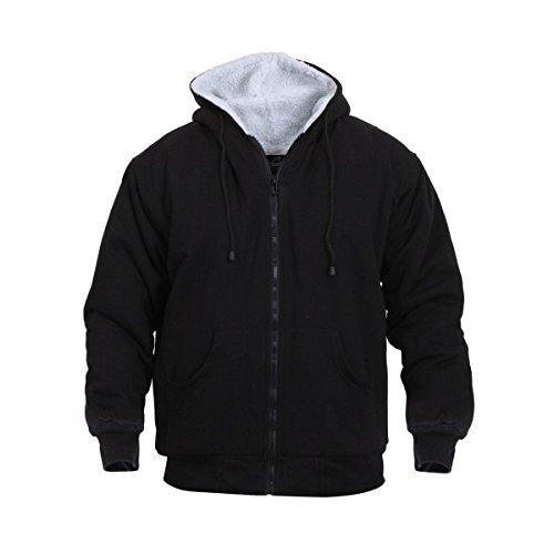 Rothco H/W Sherpa Lined Zippered Sweatshirt, Black/Medium
