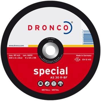 Dronco, Schruppscheibe 125 x 6 x 22,2 AS 30 R , für Stahl, Baustahl, Schweißnähte, Schleifscheibe