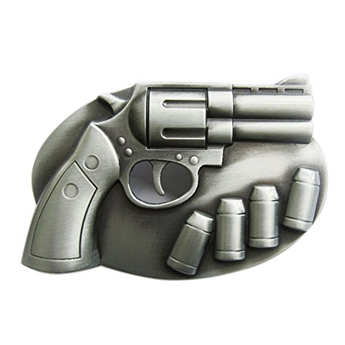 (New Vintage Cut Out Revolver With Bullets Belt Buckle Gurtelschnalle)