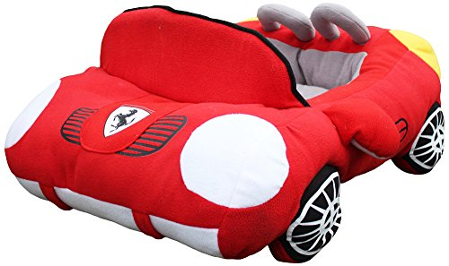 PetBoss Sporty Luxury Car Shaped Cozy Pet Bed for Small/Medium Pets, Red