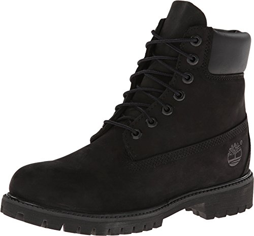 Timerbland Men's 6 inch Premium Waterproof Boot, Black Nubuck, 10 W