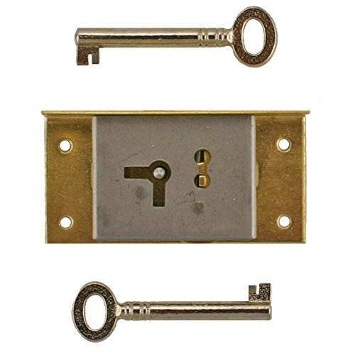 S-20R RIGHT BRASS HALF MORTISE LOCK WITH SKELETON KEY + FREE BONUS (SKELETON KEY BADGE)
