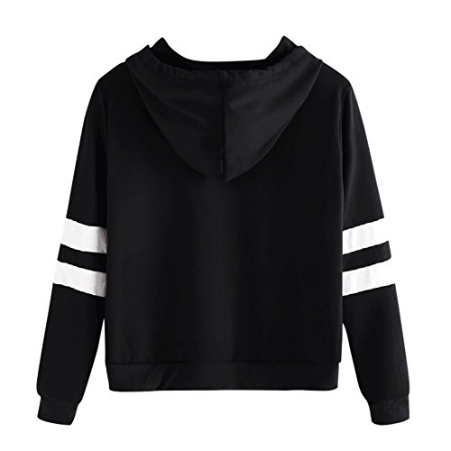 Sleeve Long Women Sleeve Hoodie Tops Black Ladies Long Hoodie Yalatan Sweater Hooded Tops Sweatshirt Pullover ZqExtnIdw