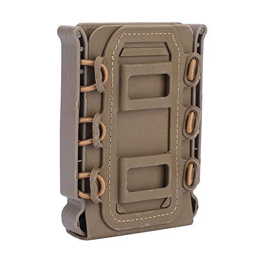 T-best Rifle Mag Pouch Pistol Magazine Holder 5.56mm/7.62mm Outdoor Tactical Mag Carrier 4 Colors (Khaki)
