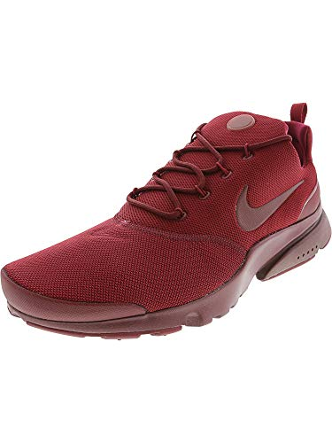 Nike Mens Presto Fly Se Fabric Low Top Lace Up Running Sneaker, Red, Size 12.0