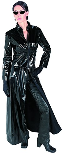 Rubie's Women's Grand Heritage Deluxe Matrix 2 Trinity Costume, Black, (Vinyl Trench Coat Costumes)