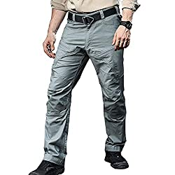 TACVASEN Men's Tactical Ripstop Combat Trousers Airsoft Hunting Cargo Pants