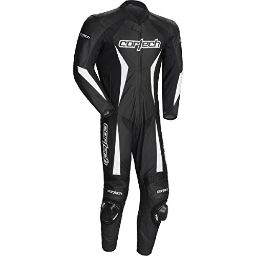 Cortech Latigo 2.0 Men's 1-Piece Leather Street Racing Motorcycle Race Suit - Black/X-Large ()