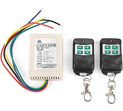 amazon com yunnyp radio remote receiver, 12v rf relay hidden ignition kill switch 12v wiring lights in series wiring