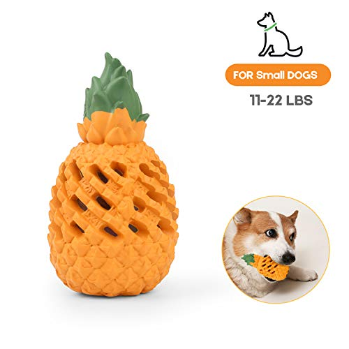Pineapple/Mango Dog Chew Toys for Aggressive Chewer – Squeaky Teethbrush Chew Toy, Indestructible Interactive Treat Toys…