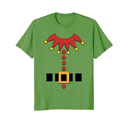 Mens Christmas Elf Santa's Toy Maker Outfit Costume T-Shirt XL Grass (Sleigh Santas Maker)