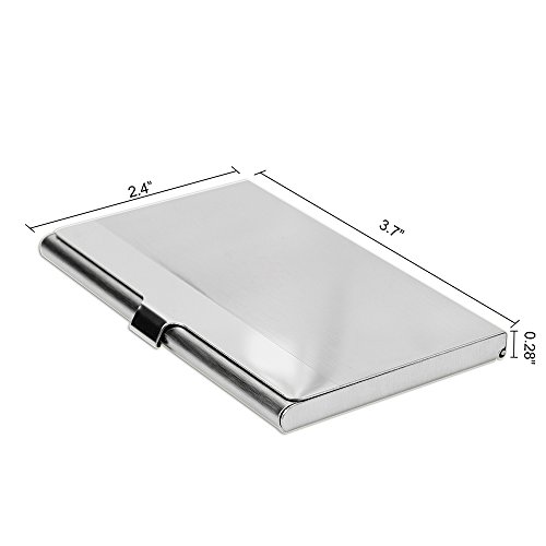 SunplusTrade Professional Metal Business Card Holder Pocket Business Card Case Slim Business Card Carrier Business Card Holders Wallet for Men & Women