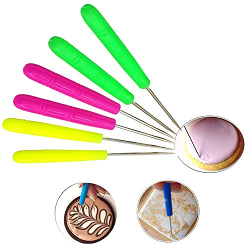 Gooday 6 PCS Scriber Needle Modelling Tool Marking Patterns Icing Sugarcraft Cake Decorating -