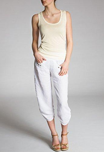 CASPAR Fashion Zapatos de Vestir Para Mujer Blanco Blanco PcQezV