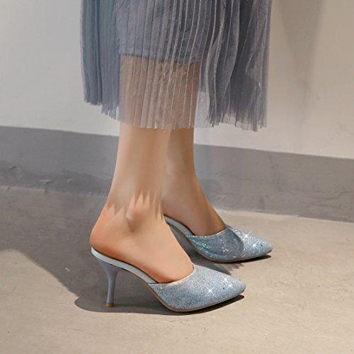 Caviglia sulla Donna Aperte AIYOUMEI Blau w16fqE