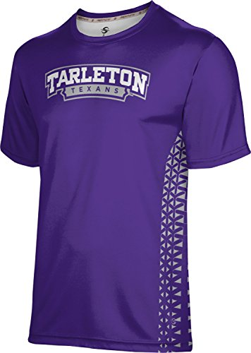 (ProSphere Tarleton State University Men's Performance T-Shirt (Geo) FE9B (Large) Purple and Gray)