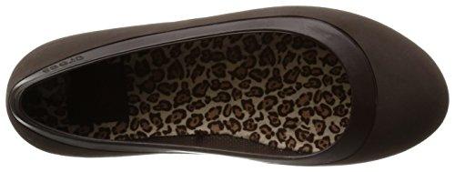 Lined talón Mahogany de W Mammoth Cerrado Leopard Crocs Mahogany Mujer sintético Marrone wq1ZCEW