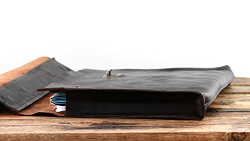 Marius Suitcase Leather Folding Paul Pliable Soft Briefcase Dark Brown Le IqH4zgwz