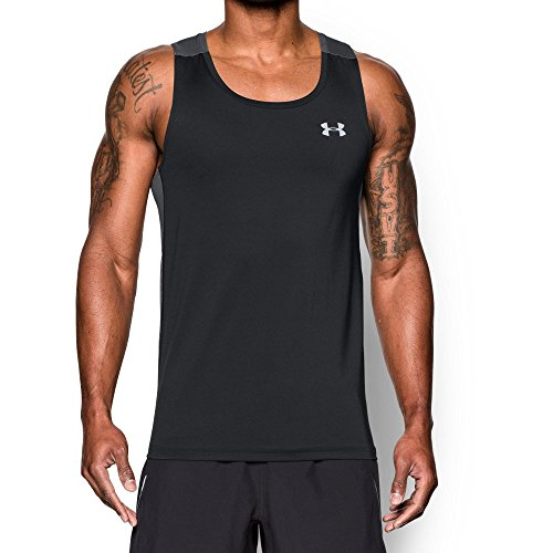 Under Armour Men's CoolSwitch Run Singlet, Black/Graphite, Small