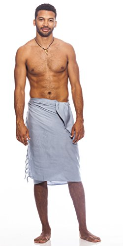 Hommes 1 Sarongs De Gris World Pour Unicolore Sarong Light azIEx