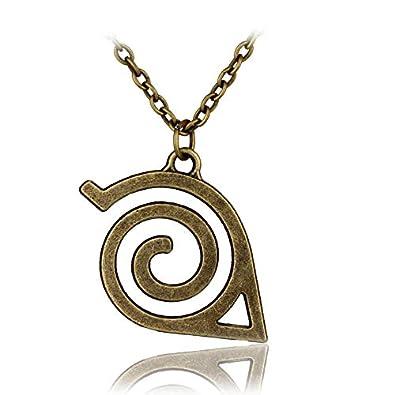 DYKJ Naruto Leaf Village Symbol Necklace Konohagakure Konoha ...