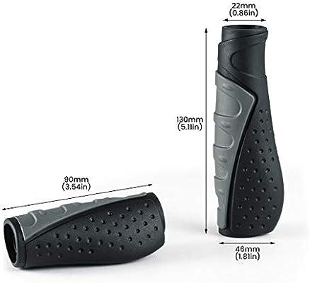 prunus Puños Bicicleta Caucho ergonómicos Antideslizantes puños para Manillar de MTB Bicicleta de montaña Mountain Bike (Negro(130mm+90mm)): Amazon.es: Deportes y aire libre