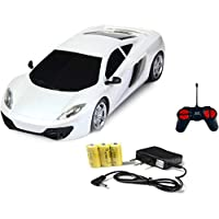 Zitto Mini Racing 4 Channel Radio Control RC Car (White)