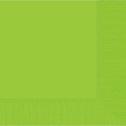 (amscan 2-Ply Kiwi Green Dinner Napkins, 50 Ct. | Party Tableware)