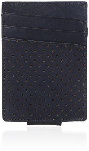 UPC 043345136454, Buxton Men's Cooper Leather Front Pocket Slim Minimalist Money Clip, Navy, One Size
