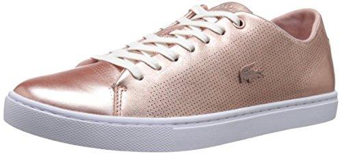 Lacoste Sneakers Lace (Lacoste Women's Showcourt Lace Fashion Sneaker, Pink, 8 M US)
