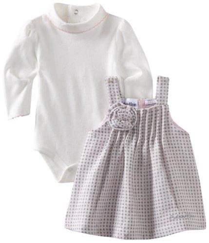 Calvin Klein Baby-Girls Newborn Onesie With Jumper