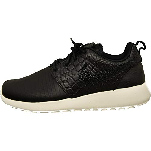 Nike Womens Roshe One Lx Low Top Lace Up Fashion, Black/Black-Ivory, Size 7.5