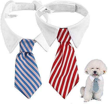 KEISL 2pcs Corbata de Perro Lazos para el Pelo de Mascotas ...