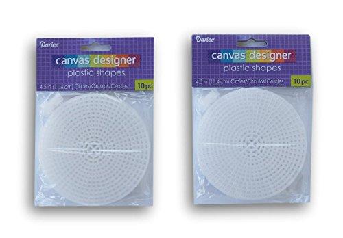 Darice Plastic Canvas Circle - 4.5 Inch Diameter - 20pc