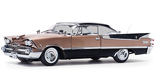 Sunstar Diecast Cars (1959 Dodge Custom Royal Lancer Hard Top Mocha / Jet Black Platinum Edition 1/18 Diecast Model Car by Sunstar 5484)