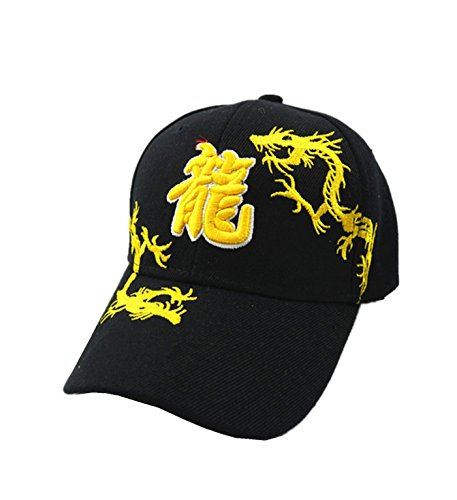 (micrkrowen Chinese Dragon Embroidery Hat Sunscreen Cap )