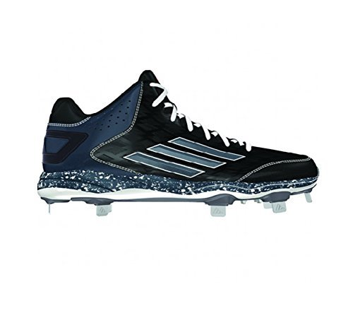 Adidas Poweralley 2 Mid-mens Baseball Cleat 9.5 Black-carbon Met-carbon