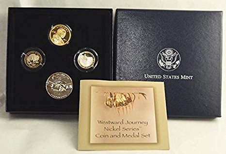 2005 S WESTWARD JOURNEY NICKEL SERIES COIN AND MEDAL SET PROOF Proof (Set Coin Journey)