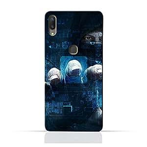 AMC Design Dangerous Hacker Printed Protective Case for Vivo X21 - Blue