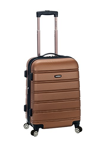 Rockland Melbourne 20 Inch Expandable Abs Carry On, Brown Brown Expandable Bag